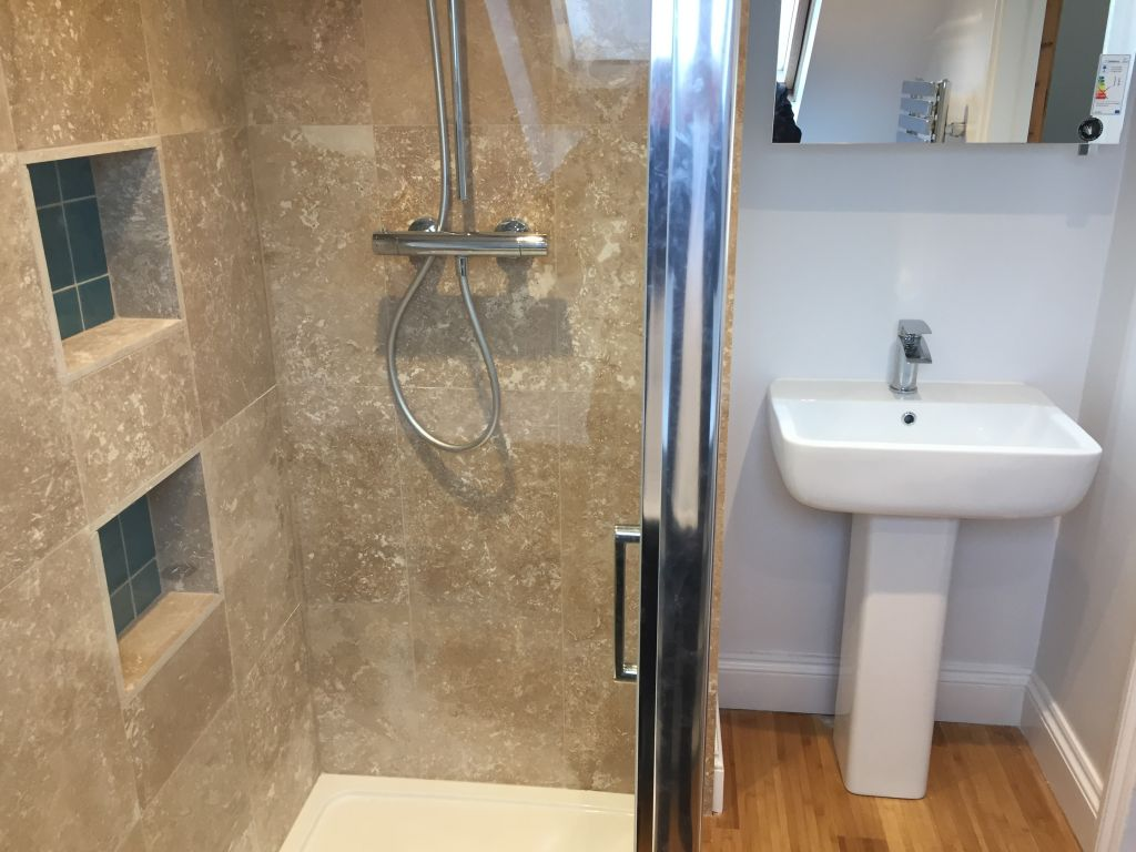 After photo of small bathroom